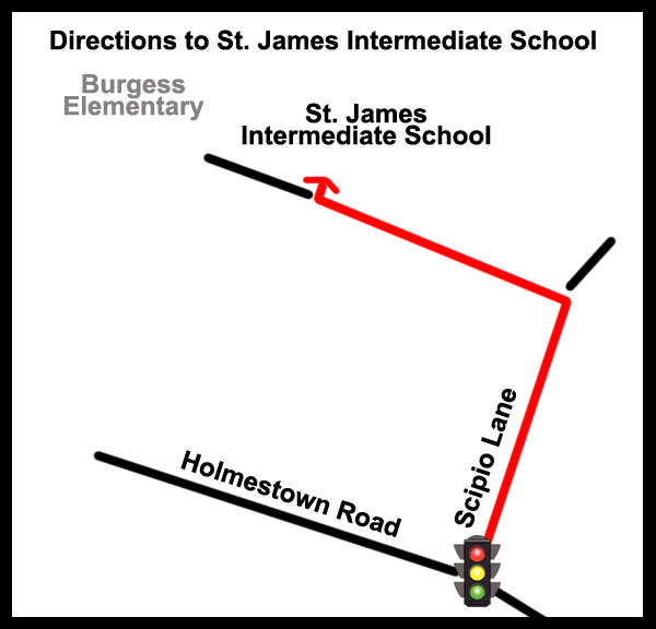 Map to school