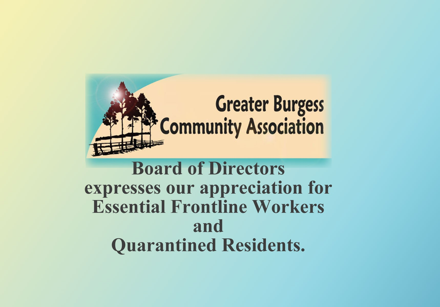 Board of Directors expresses our appreciation